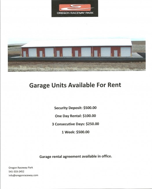 Garage Rental Flyer